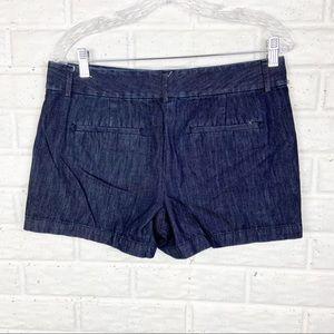 LOFT Denim Chino Shorts dark wash
